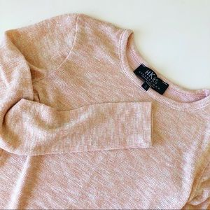HKR COLLECTIONS Peach Gold Long Sleeve Knit Tee